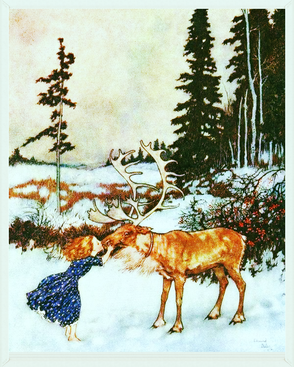 Seasonal-Winter-Kissing-a-reindeer